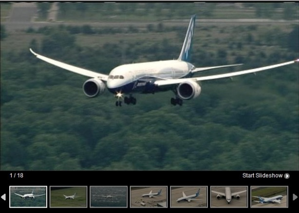 Eighteen views of todays Dreamliner visit to Dulles International Airport,  Washingtion DC.  Photo: 9 News Now